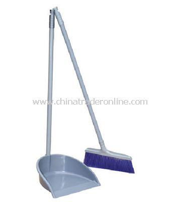 DUSTPAN & BRUSH SET (PLASTIC)