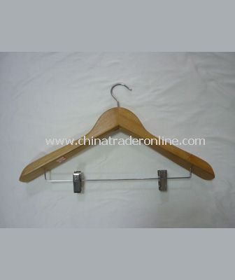 SUIT HANGER WITH CLIPS