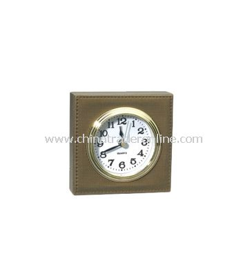 SYNTHETIC LEATHER ALARM CLOCK