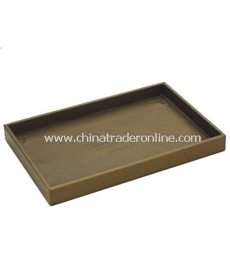 SYNTHETIC LEATHER SERVICE TRAY