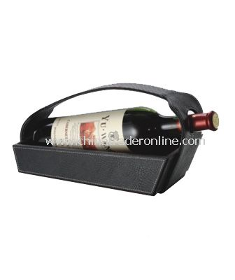 SYNTHETIC LEATHER WINE BASKET
