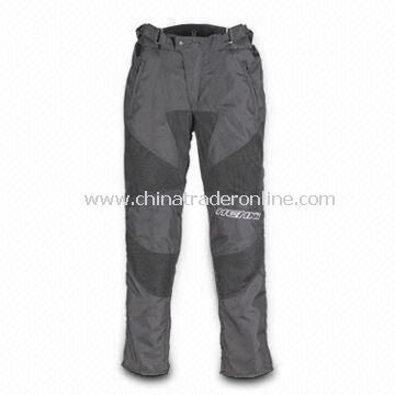 Motorcycle Pants, Made of 600D Polyester Fabric and Mesh Polyester