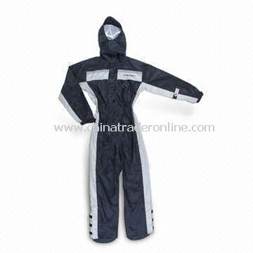 Motorcycle Rainwear, Made of Nylon and PVC