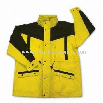 Waterproof Mens Motorcycle Suit, Made of Nylon, Available in Various Sizes and Colors