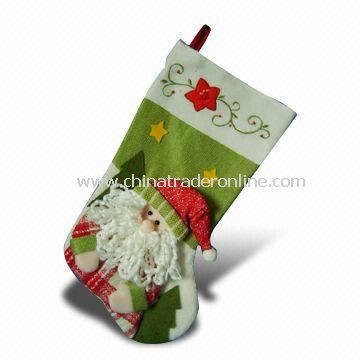19-inch Red and Green Colored Christmas Stockings