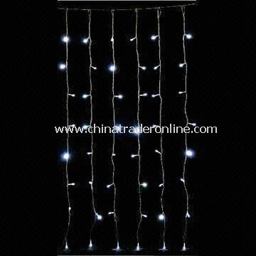 24V LED Curtain Light, GS or CE and RoHS Approved, Suitable for Outdoor Use