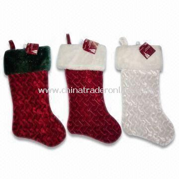 48cm Plush Christmas Sock, Available in Various Designs, EN71 Certified