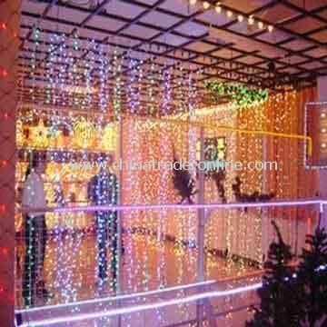 5m curtain lightchristmas lightdecoration light with double isolation pvc cable and 230v