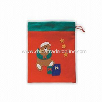 Bag, Made of Non-woven Fabric, Suitable for Christmas Decoration, Available in Red