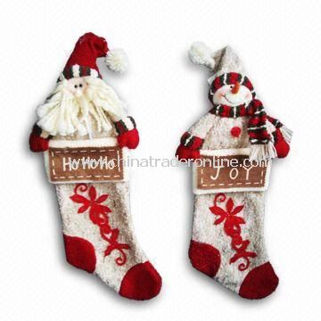 Bark-look Christmas Stockings, Measuring 19 Inches