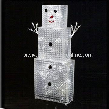 Brick-shaped Christmas Light in Snowman Design, with 14.4W Power and Voltage of 120V AC