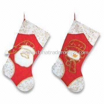 Christmas Socks with Snowman and Santa Claus Design, Available in Various Colors