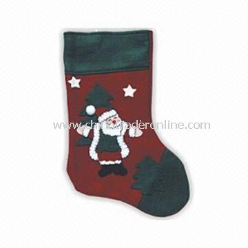 Christmas Stocking with 45cm Length, Available in Red and Green