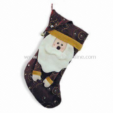Christmas Stocking with Ornaments, Various Designs are Available, OEM Orders are Welcome