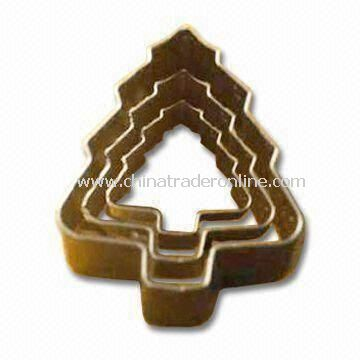 Christmas Tree Cake Mold with 10pcs Set, Measures Ø23 x 2cm