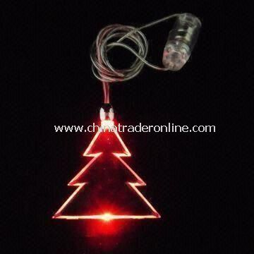 Christmas Tree Flashing Necklace, OEM and ODM Orders are Accepted from China