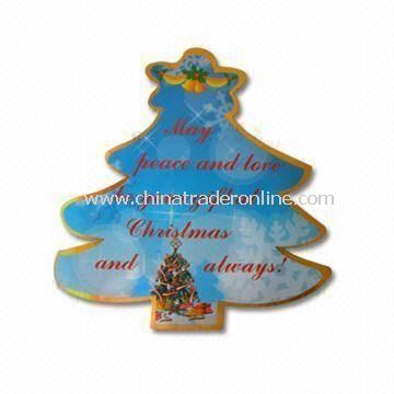 Christmas Tree Fridge Magnet, Customized Designs are Accepted, OEM Orders are Welcome