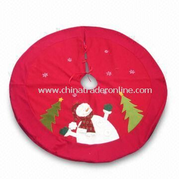 Christmas Tree Skirt, Measures 42 Inches, Available in Red/Green Color