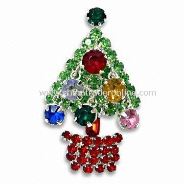 Decorative Christmas Tree Brooch with Short Lead Time