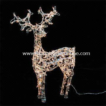 Deer-shaped Christmas Lights with 120V Voltage, Measuring 112 x 74 x 34cm