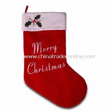 Giant Stocking, Measures 30 Inches, Made of Velvet and 100% Polyester