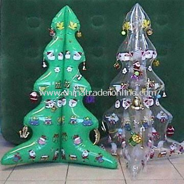 Inflatable PVC Christmas Trees Printed with Santa Claus Patterns