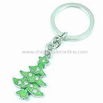 Keychain in X-mas Tree Shape, Made of Alloy/Enamel, Customized Requirements are Accepted from China