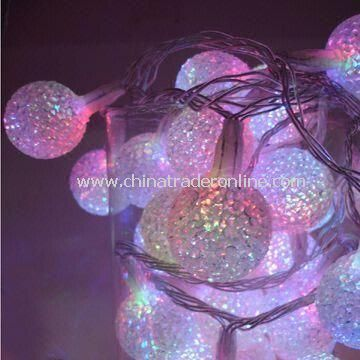 LED Waterproof String Lights with 110 or 220V Voltage, Suitable for Christmas Decoration