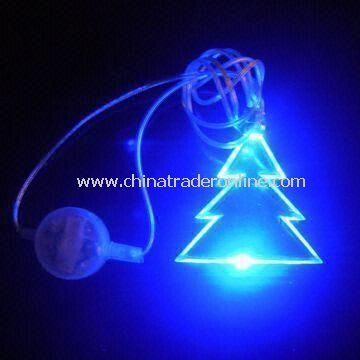 Novelty Light in Christmas Tree Shape, Logo Printings are Available