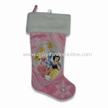Plush Christmas Sock with EN71 Certification, Measures 48cm, Available in Various Designs