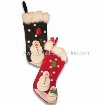 Plush Christmas Stocking with EN71 Certification, Available in Various Designs, Measures 12 x 12cm