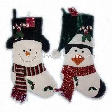 Plush Christmas Stocking with EN71 Certification, Available in Various Designs, Measures 48cm