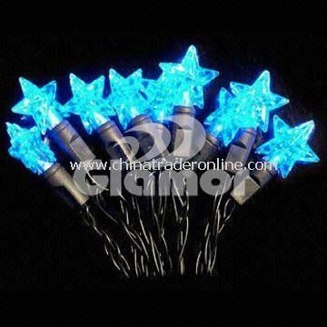 Snowflake-shaped LED Christmas Lights with Length of 363-Inch, Available in Blue