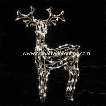 Standing Deer-shaped Christmas Light with Power of 12W
