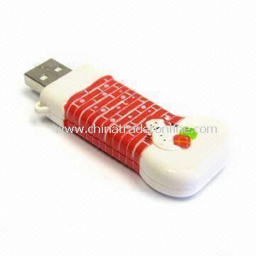 USB Flash Drive in Christmas Stocking Design, with 64MB to 32GB Capacity Range