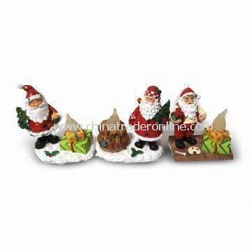 Christmas Crafts with Hand Painted Design, Made of Polyresin Material