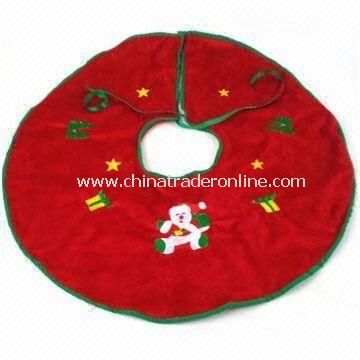 Christmas Tree Skirt in Various Designs, Measures 60cm, Made of Soft Plush