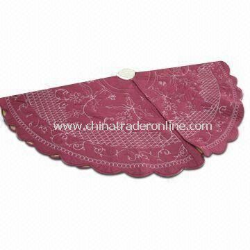 Christmas Tree Skirt with 100% Cotton Covering and Filling, Customized Sizes are Accepted
