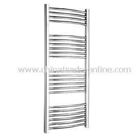 Chrome-plated curved Towel radiator