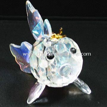 Crystal Rainbow Fish, Colorful, Can be Used as Christmas Decoration from China