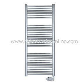 Electric chrome-plated flat towel rail