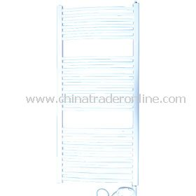 Electric white oval straight towel rail