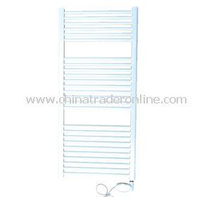 Electric white straight towel rail