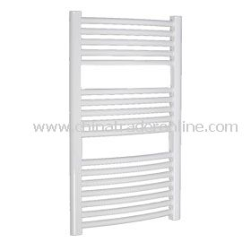 Plastic coated curved towel radiator