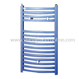 Plastic-coated curved Towel radiator