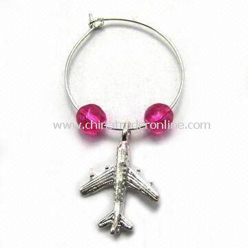 Wine Charm in Plane Design, Used for Christmas Decorations, Souvenirs, and Corporation Gifts