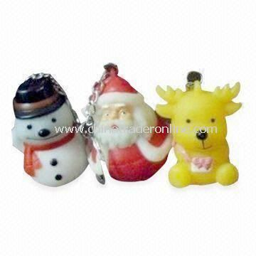 Christmas Ornament, Customized Logos and Accessories are Welcome, Made of Rubber