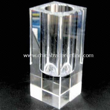 Crystal Vase/Christmas Ornament, Customized Logos and Colors are Welcome