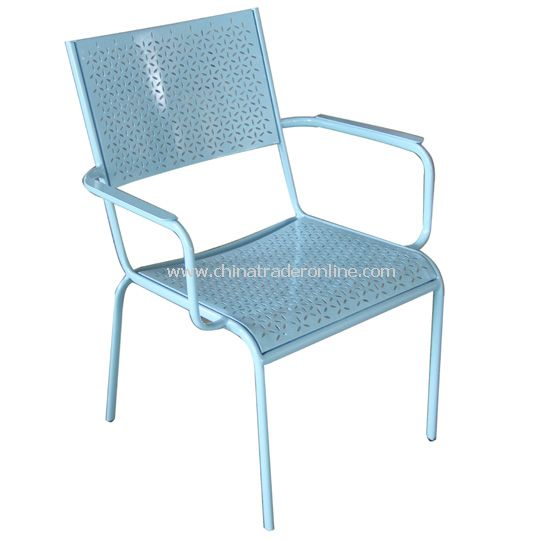 Wrought iron armchair