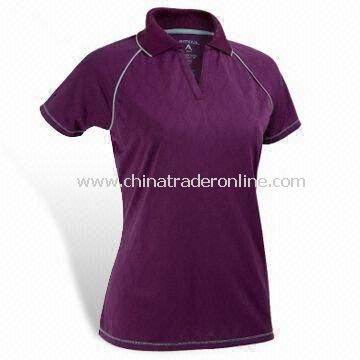 180gsm Golf Apparel with Contrasted Piping and Cool Fast Function, Made of 100% Polyester Mesh from China